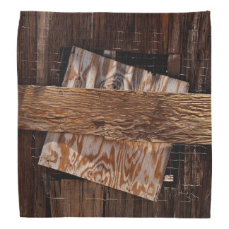 Boarded Up Old Wooden House Window Bandana