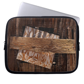 Boarded Up Old Wooden House Window Laptop Sleeve