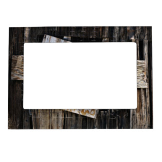 Boarded Up Old Wooden House Window Magnetic Frame