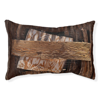 Boarded Up Old Wooden House Window Pet Bed