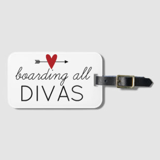 Boarding All Divas Luggage Tag