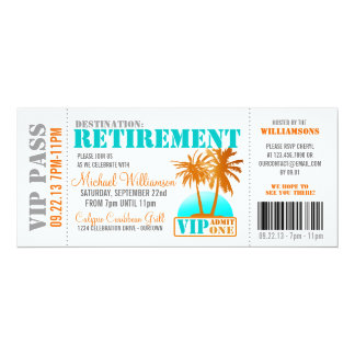 Boarding Pass Retirement Party Invitations