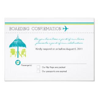 Boarding Pass RSVP Card