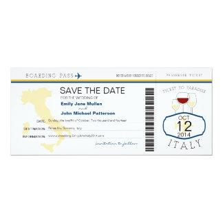 Boarding Pass to Italy Wedding Invitation