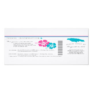 Boarding Pass to Jamaica Wedding Travel Info Card