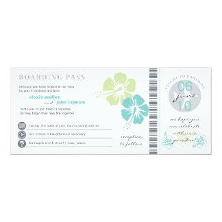 "Boarding Pass Wedding Invitation 4"" X 9.25"" Invitation Card"
