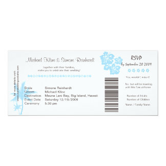 Boarding Pass Wedding Invitation and RSVP in one