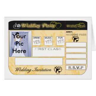 Boarding Pass  Wedding Invitation To Customise