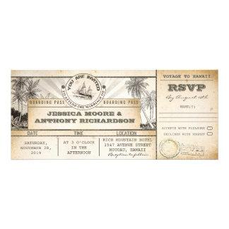 boarding pass wedding tickets- invitations