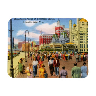 Boardwalk, Atlantic City Vintage Magnet