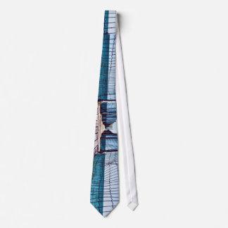 Boardwalk with rope net tie