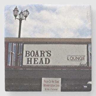 Boar's Head Athens,Ga. Marble Stone Coaster. Stone Coaster