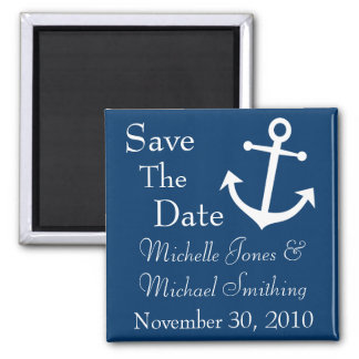 Boat Anchor Save The Date Magnets (Dark Blue)