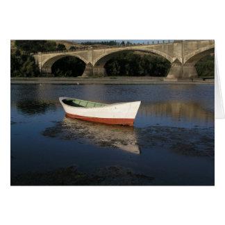Boat and Bridge Greeting Card