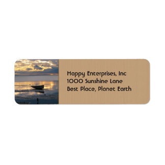 Boat and Heron Return Address Label