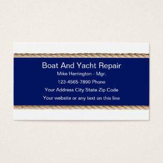 Boat And Yacht Repair Business Cards