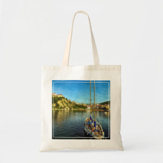 Boat Approaching Shore | Agropoli Budget Tote Bag