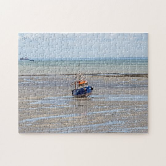 Boat at low tide photo puzzle
