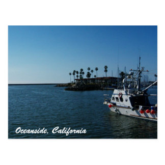 Boat at Oceanside, California Postcard