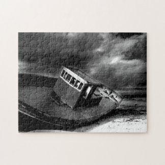 Boat at Rest on a Beach. Jigsaw Puzzle