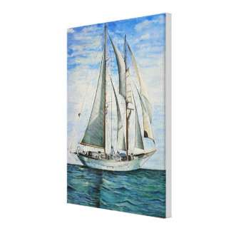 Boat At Sea Canvas Print