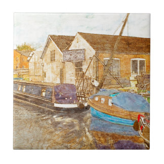 Boat Builders Small Square Tile