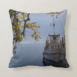Boat by the Pier Cushion