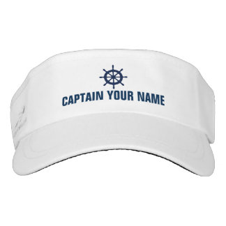 Boat captain hats | custom nautical sun visor cap
