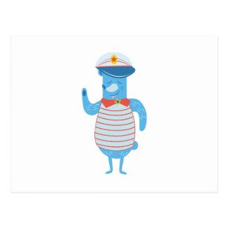 Boat Captain Postcard