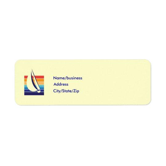Boat Colour Square_template Return Address Label