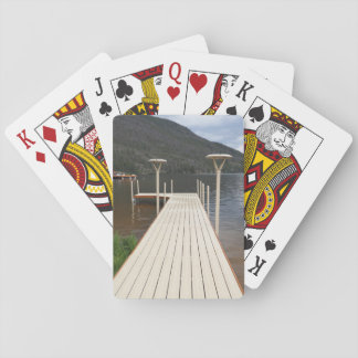 boat dock at Grand Lake in Colorado Playing Cards