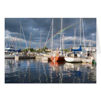 Boat Dock at Marina Photograph Greeting Card
