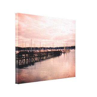 Boat Dock Canvas Print