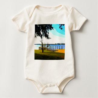 Boat Dock Lake Baldwin Baby Bodysuit