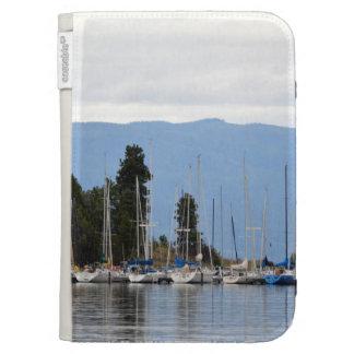 Boat Dock on Flathead Lake Kindle Folio Case