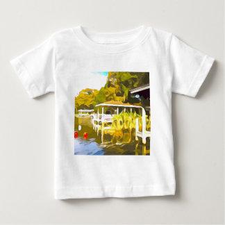 Boat Docks Lake Osceola Baby T-Shirt
