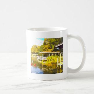 Boat Docks Lake Osceola Coffee Mug