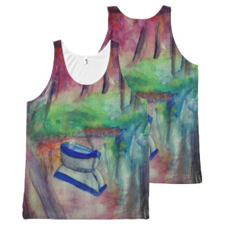 Boat Drawing Custom All-Over Printed Unisex Vest