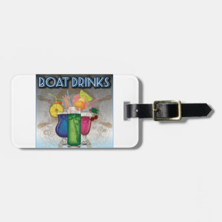 Boat Drinks Luggage Tag