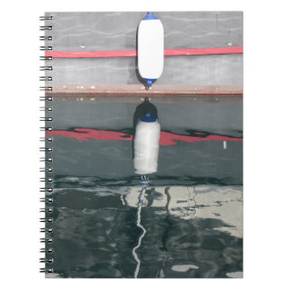 Boat fenders hanging on the board notebooks