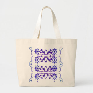 boat figures large tote bag