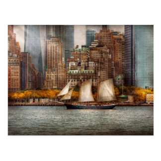Boat - Governors Island, NY - Lower Manhattan Postcard