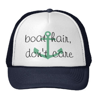 boat hair, don't care, messy hair cruise hat