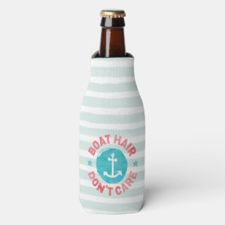 """Boat Hair Don't Care"" (Personalised) Bottle Cooler"