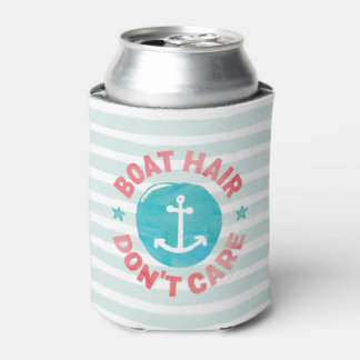 """Boat Hair Don't Care"" (Personalised) Can Cooler"