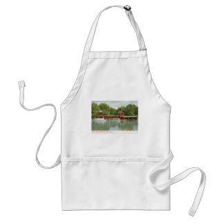 Boat House, Central Park, New York City 1918 Vinta Standard Apron