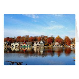 Boat House Row, Philadelphia, PA Card