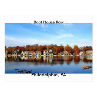 Boat House Row, Philadelphia, PA postage stamp Postcard