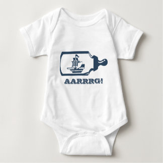 Boat in a Baby Bottle Baby Bodysuit