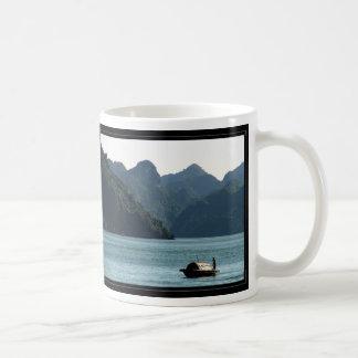 Boat in Halong Bay Coffee Mug
